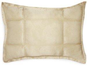 Donna Karan Closeout! Home Reflection Ivory Quilted Standard/Queen Sham Bedding