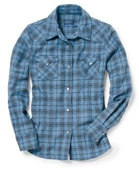 Pendleton Fitted Plaid Snap Shirt