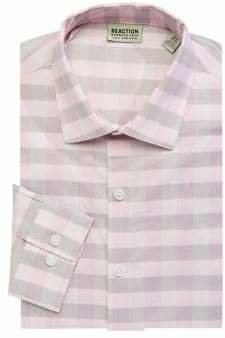 Kenneth Cole Reaction Slim-Fit Checkered Dress Shirt