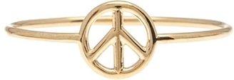 Aurelie Bidermann 18kt Gold Peace Sign Ring