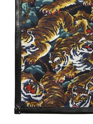 Kenzo Tiger Printed Cotton Canvas Tote