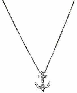 Roberto Coin Women's Tiny Treasures 18K White Gold & Diamond Anchor Pendant Necklace