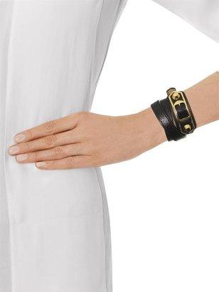 Balenciaga Studded leather wrap-around bracelet