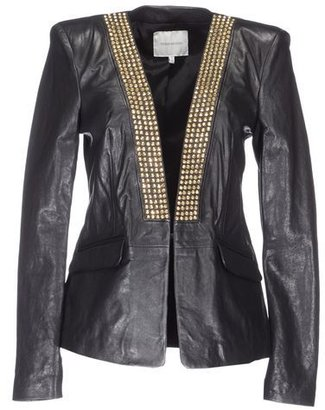 Balmain PIERRE Leather outerwear