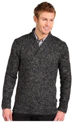 Calvin Klein Shawl Collar Alpaca Sweater (Dark Grey SL) - Apparel