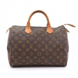 Louis Vuitton very good (VG Brown Monogram Canvas Speedy 30 City Handbag