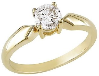 Diamond Solitaire Ring in 14k Yellow Gold