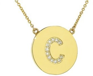 Jennifer Meyer Diamond Letter Necklace - C - Yellow Gold