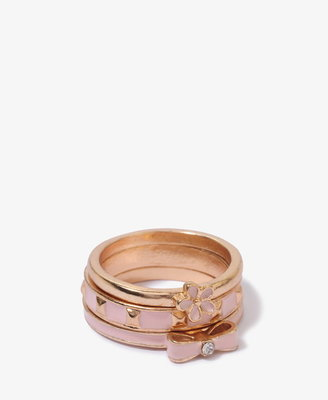 Forever 21 Lacquered Stack Ring Set