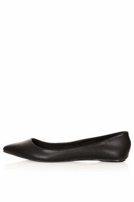 Topshop Black softy pointed slip-on shoes. 100% polyurethane. do not wash.