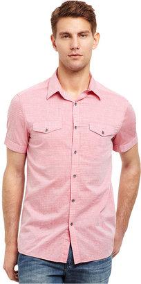 Kenneth Cole Reaction Shirt, Short Sleeve Dobby Dot Shirt