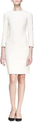 The Row 3/4-Sleeve Stretch Scuba Dress