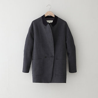 Steven Alan O'2ND fabric patched lapel jacket