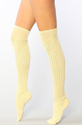K. Bell The Old Fashioned Over the Knee Sock in Straw