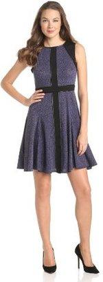 Maggy London Women's Tweed Ponte Sleeveless Dress