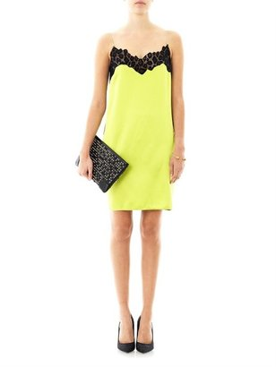 Versace Lace trimmed bi-colour dress