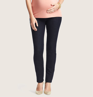 LOFT Petite Maternity Skinny Jeans in Dark Rinse Wash