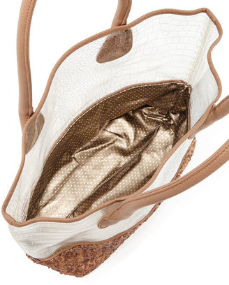 Deux Lux Witchcraft Clear Embossed Sequined Tote Bag, Copper