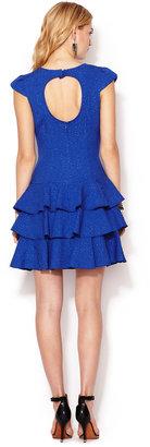 Rachel Zoe Textured Cap Sleeve Ginta Dress