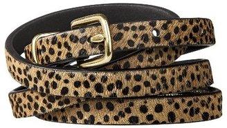 Merona Leopard Print Skinny Belt - Brown
