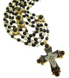 Virgins, Saints & Angels Magdalena Necklace in Gold | Jet