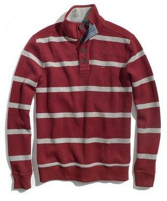 Tommy Hilfiger Men's French Rib Stripe Mock Neck Knit