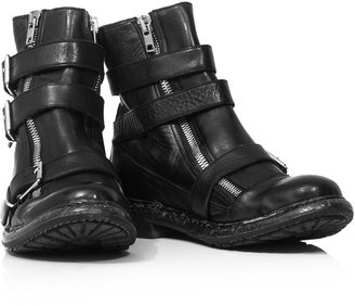 Burberry Hertford triple-buckle ankle boots