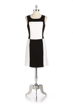 Adrianna Papell Two-Tone Sheath Dress