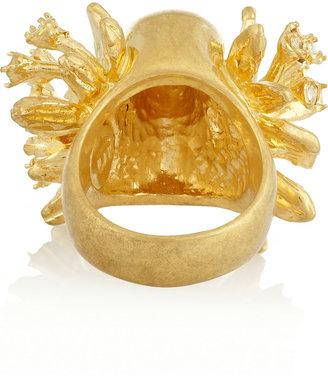 Alexander McQueen Swarovski crystal skull ring
