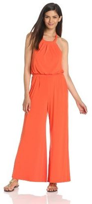 Vince Camuto Women's Jumpsuit With Self-Fabric Tie At Neck