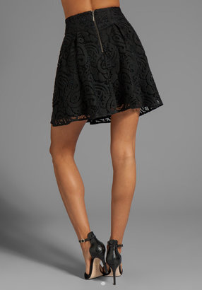 Nanette Lepore Mambo Lace Cha-Cha-Cha Skirt