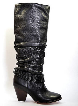 PRO BEAUTY Viola Tall Leather High-Heel Boots