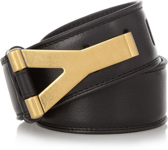 Yves Saint Laurent Chyc leather waist belt