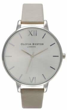 Olivia Burton Analog Big Dial Stainless Steel Leather Strap Watch