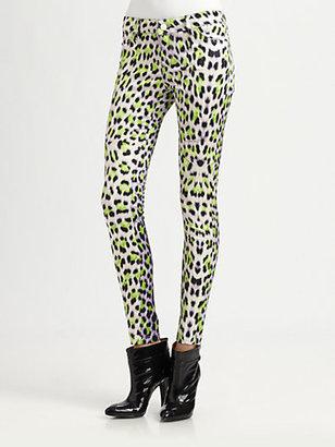 Just Cavalli Leopard Candy-Print Pants