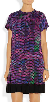 Proenza Schouler Pleated printed silk-georgette dress