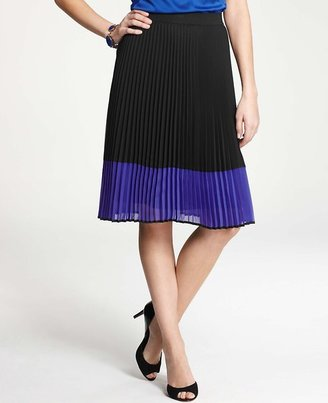 Ann Taylor Colorblocked Pleated Skirt