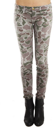 Current/Elliott Ankle Skinny Jean in Grey Camo