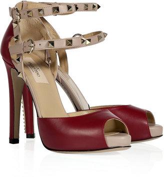 Valentino Barolo/Powder Leather Rockstud Sandals