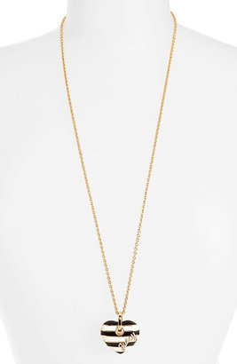 Juicy Couture 'Jewelry Box Treasures' Stripe Heart Pendant Necklace