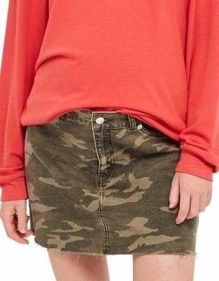 Topshop MATERNITY Camo Mini Skirt