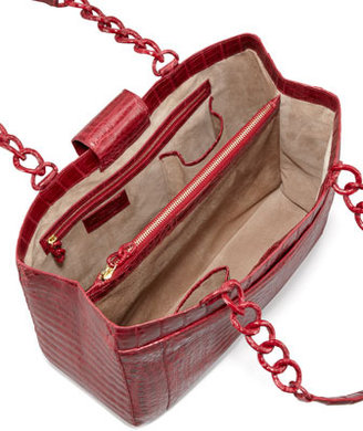 Nancy Gonzalez Large Crocodile Chain Tote Bag