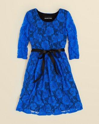 Un Deux Trois Girls' Lace Dress - Sizes 7-16