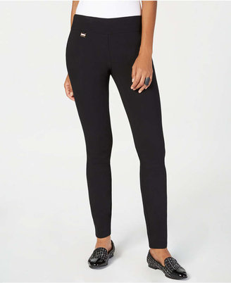 Alfani Tummy-Control Pull-On Skinny Pants, Regular, Short, and Long Lengths