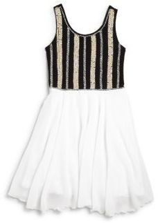 Flowers by Zoe Girl's Striped Sequin Dress