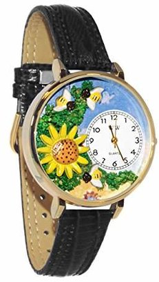 Whimsical Watches Unisex G1210009 Sunflower Leather Watch