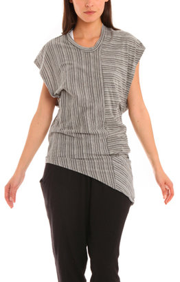 Rogan Frey Dress in Striped Heather Grey