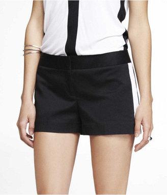 Express 2 1/2 Inch Tuxedo Stripe Cotton Shorts