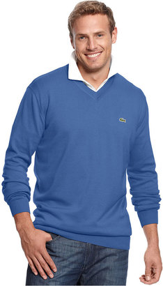 Lacoste Big and Tall Sweater, V-Neck Sweater