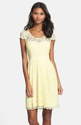 Betsey Johnson Illusion Yoke Lace Dress